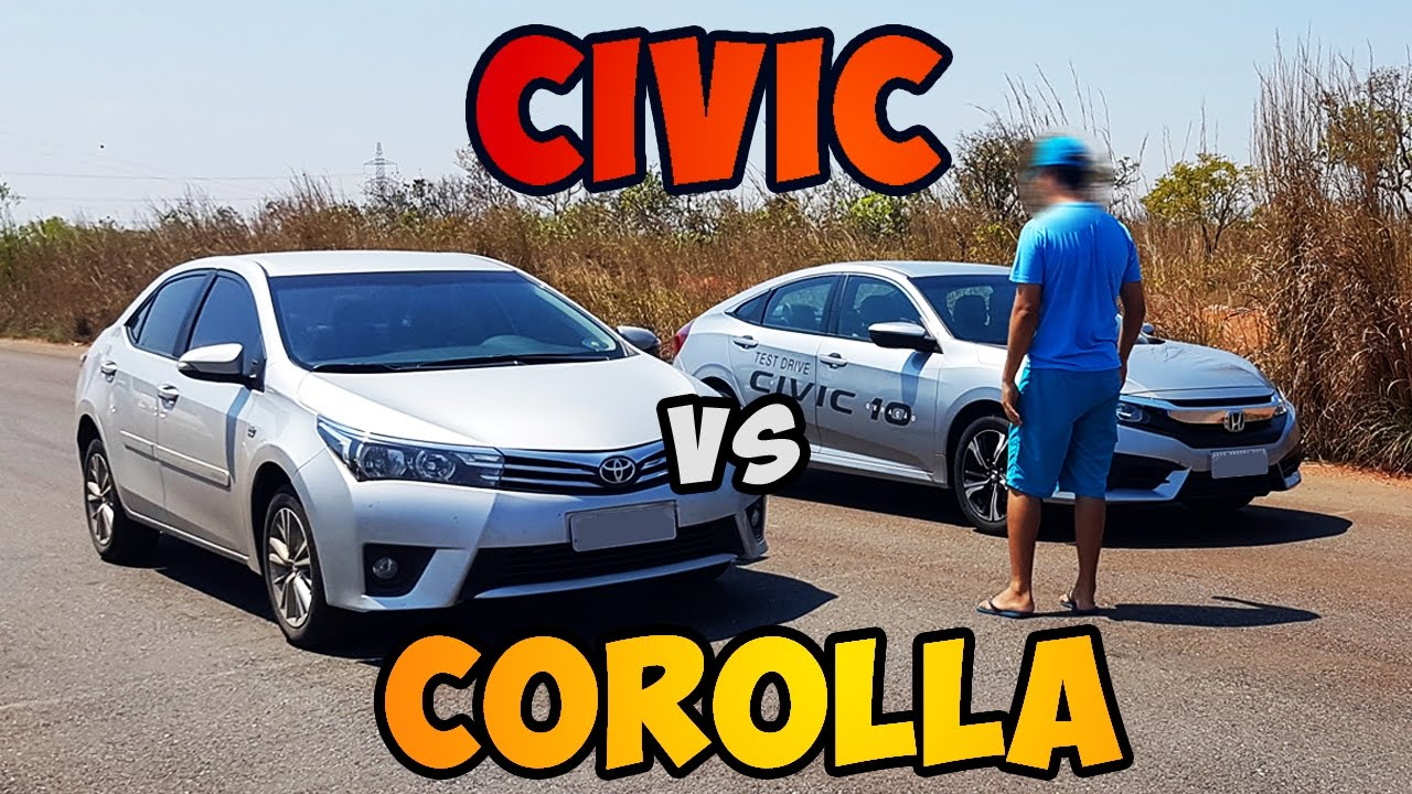 Honda civic 2.0(2017) vs Toyota Corolla 2.0(2015) DRAG RACE - Fajar ...